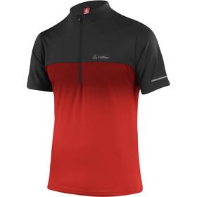 Löffler Flow 3.0 Half-Zip Bike Shirt Men, rood